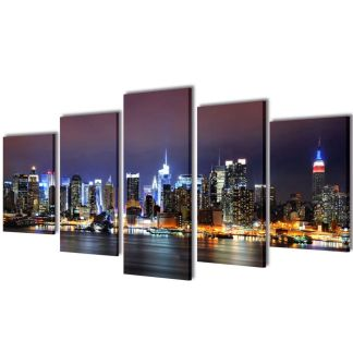 "Fotopaveikslas ""Niujorko Kontūrai"" ant Drobės 100 x 50 cm"