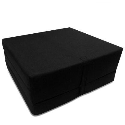 Čiužinys, trijų dalių, putplastis, 190x70x9cm, juodas