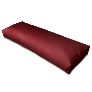 vidaXL Kėdės pagalvėlė, paminkštinta, vyno raudona, 120x40x10cm