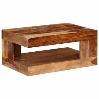 vidaXL Kavos staliukas, masyvi rausvosios dalbergijos mediena