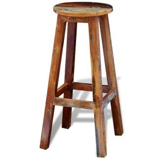 vidaXL Baro kėdė, perdirbta masyvi mediena