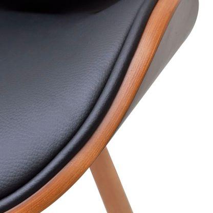 2 Valgomojo Kėdžių Komplektas su Lenktos Medienos Rėmu