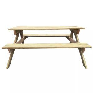 Iškylų stalas, 150x135x71,5 cm, FSC mediena