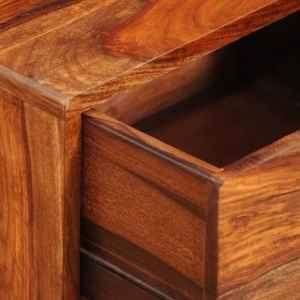 Naktinis staliukas, su stalčiu, 55 cm, masyvi akac. med.