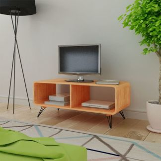 vidaXL TV Staliukas, 90x39x38,5 cm, Medinis, Rudas