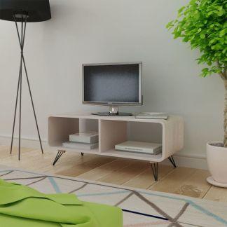 vidaXL TV Staliukas, 90x39x38,5 cm, Medinis, Pilkas