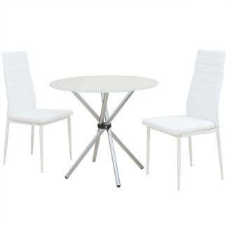 vidaXL Trijų dalių valgomojo stalo ir kėdžių komplektas