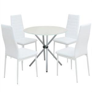 vidaXL 5 dalių valgomojo stalo ir kėdžių komplektas