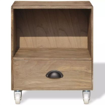 2 Naktiniai staliukai, masyvios medienos, rudos spalvos