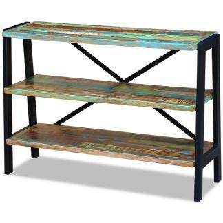 vidaXL Perdirbtos medienos staliukas su 3 lentynomis