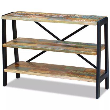 Perdirbtos medienos staliukas su 3 lentynomis
