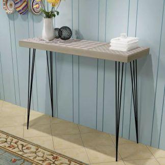 vidaXL Konsolinis staliukas, 90x30x71,5 cm, pilkas