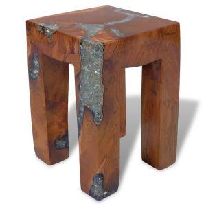vidaXL Kėdutė, tikmedžio mediena ir derva, 30x30x40 cm