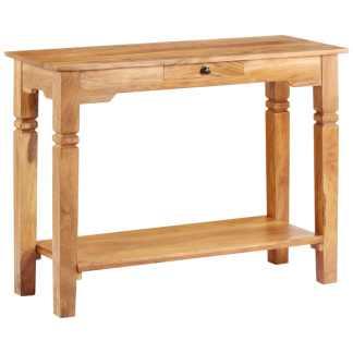 vidaXL Konsolinis staliukas, 100x40x76 cm, akacijos medienos masyvas