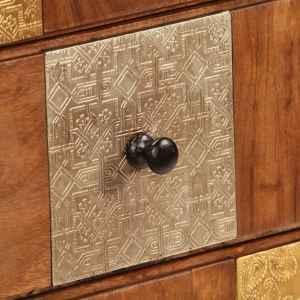 Komoda su stalčiais, 60x30x75cm, akacijos medienos masyvas