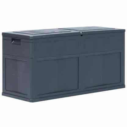 vidaXL Sodo daiktadėžė, juodos spalvos, 320 L