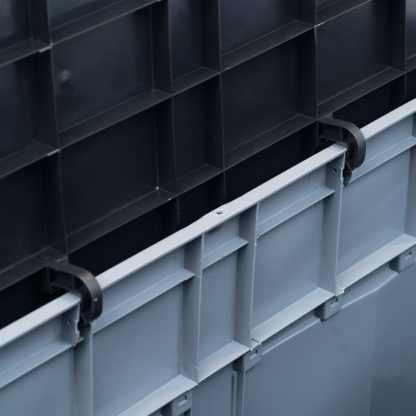 Sodo daiktadėžė, pilkos ir juodos spalvos, 320l