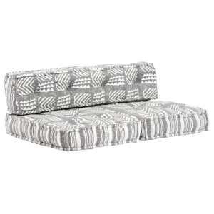 vidaXL Pagalvėlė sofai iš palečių, pilkos sp., audinys, skiautinė