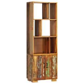 vidaXL Knygų lentyna, 60x35x180cm, perdirbtos medienos masyvas
