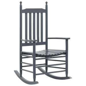 vidaXL Supama kėdė su išlenkta sėdyne, pilka, mediena