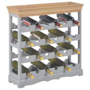 Spintelė vynui, pilkos spalvos, 70×22,5×70,5cm, MDF
