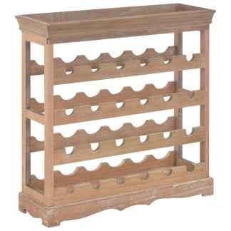 vidaXL Spintelė vynui, rudos spalvos, 70×22,5×70,5cm, MDF