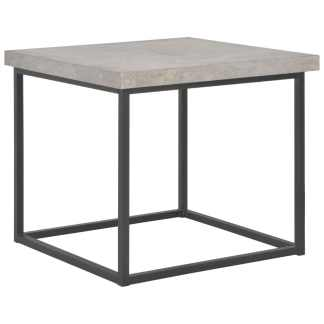 vidaXL Kavos staliukas, 55x55x53cm, betono išvaizdos