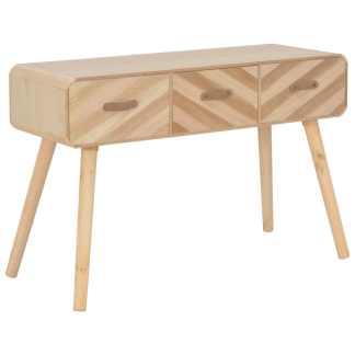 vidaXL Konsolinis staliukas, 100x35x68 cm, medienos masyvas