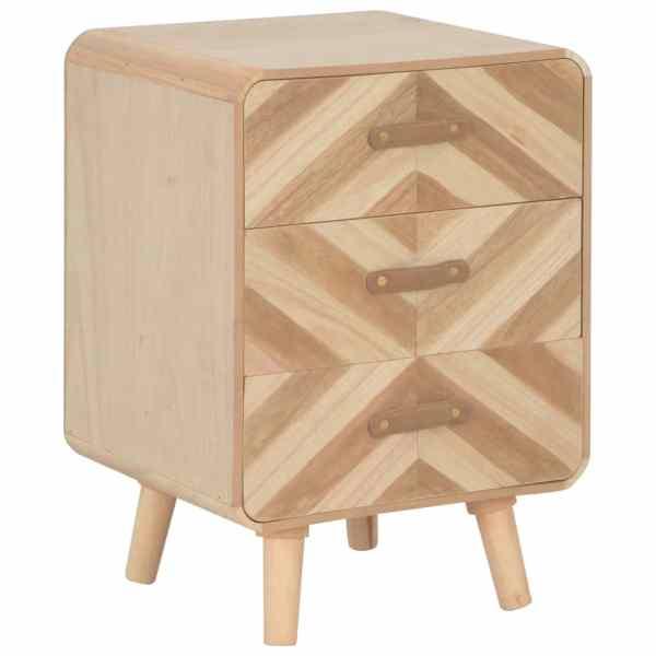 vidaXL Naktinė spintelė su 3 stalčiais, 40x35x56,5 cm, medienos mas.