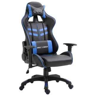 vidaXL Žaidimų kėdė, mėlyna, poliuretano putos