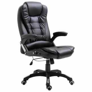 vidaXL Biuro kėdė, juoda, dirbtinė oda