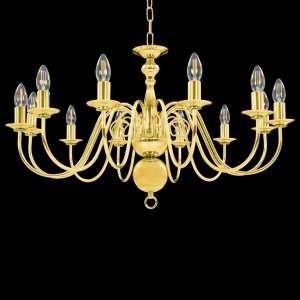 Sietynas, auksinės spalvos, 12 x E14 lemputės