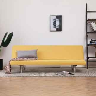 vidaXL Sofa-lova, geltona, poliesteris