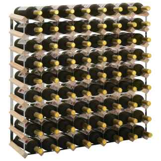 vidaXL Stovas vynui skirtas 72 buteliams, pušies medienos masyvas
