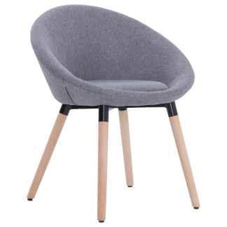 vidaXL Valgomojo kėdė, šviesiai pilkos spalvos, audinys