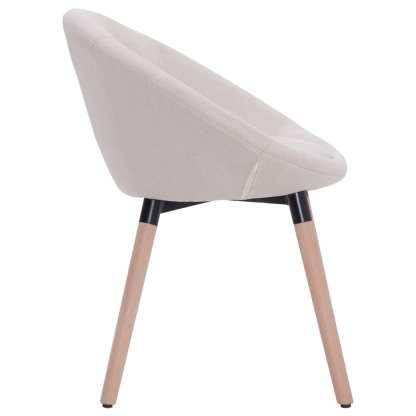 Valgomojo kėdė, kreminės spalvos, audinys