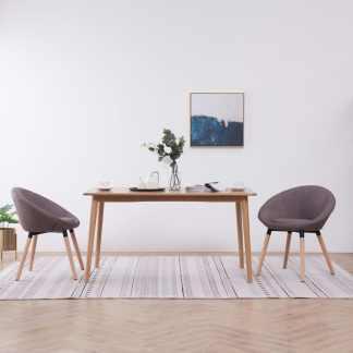 vidaXL Valgomojo kėdės, 2 vnt., taupe spalvos, audinys