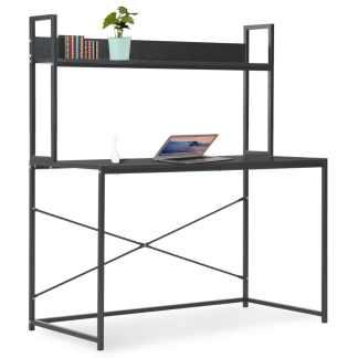 vidaXL Kompiuterio stalas, juodas, 120x60x138cm