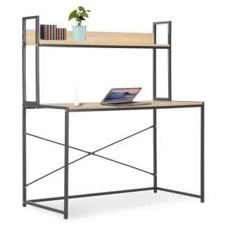 vidaXL Kompiuterio stalas, juodos ir ąžuolo spalvos, 120x60x138cm