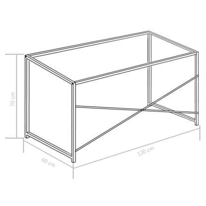 Kompiuterio stalas, baltas, 120x60x70cm
