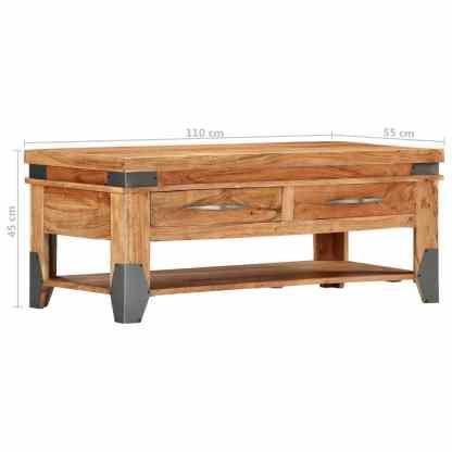 Kavos staliukas, 110x55x45 cm, akacijos medienos masyvas