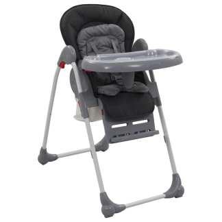 vidaXL Aukšta maitinimo kėdutė, pilkos spalvos