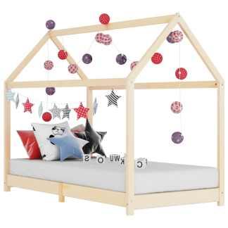 vidaXL Vaikiškos lovos rėmas, 70x140cm, pušies medienos masyvas