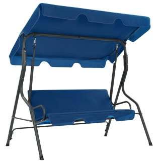 vidaXL Sodo sūpynės-suoliukas, tamsiai mėlynos, 170x110x153cm, audinys