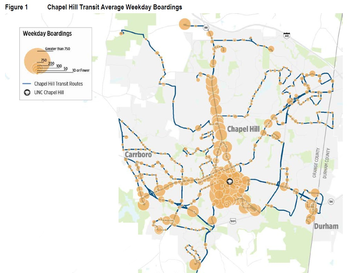 Chapel Hill Transit Proposes New System Maps Scenario 3