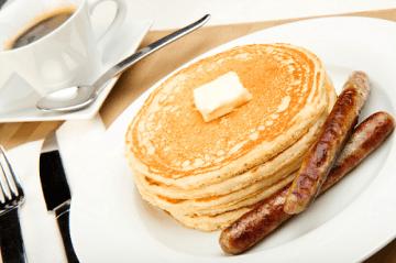 pancakes and sausage 500x332