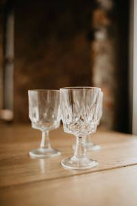 clear goblets