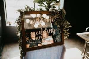 wedding detail sign