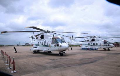 FG hands over 2 presidential helicopters to Air Force
