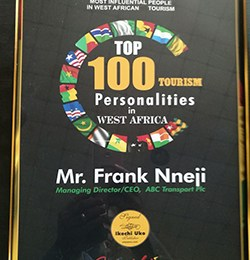 Frank Nneji, ABC Transport boss, gets West African tourism award